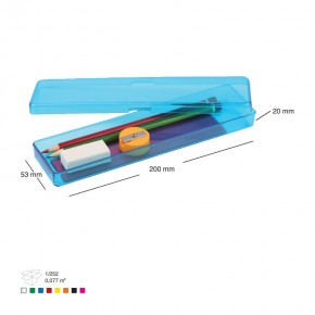 Plastik Şeffaf Kalemlik Kalem Kutu Promosyon