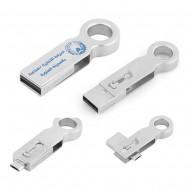 8 GB DÖNER MEKANİZMALI PROMOSYON METAL USB BELLEK