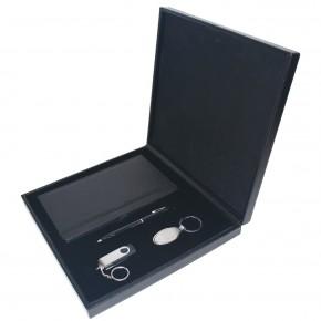 Promosyon 4lü Lüks Set Ajanda Kalem USB Bellek ve Anahtarlık