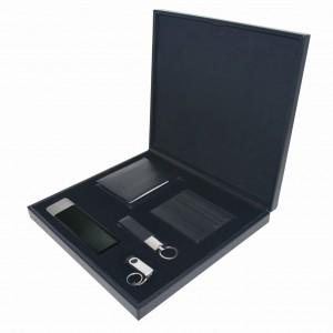 5li Deri Set Powerbank Cüzdan Kartlık USB Bellek ve Anahtarlık Promosyon