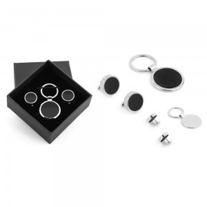 Promosyon Kol Düğmeli Metal Anahtarlık Set