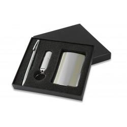Promosyon 3'lü Set Kalem Kartvizitlik ve USB flash bellek