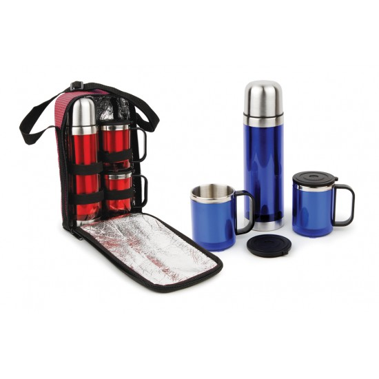 Çantalı İki Bardaklı Promosyon Termos Set